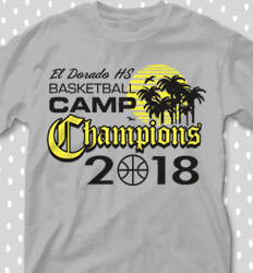 Basketball Camp Shirt Designs - Bball Camp Champs - cool-675b1