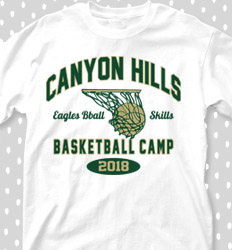 Basketball Camp Shirt Designs - Collegiate Heater - desn-353h6