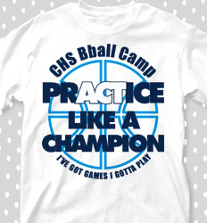 Basketball Camp Shirt Designs - Bball Camp Quote - cool-629b1