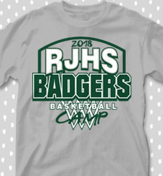 Basketball Camp Shirt Designs - Backboard Logo - cool-680b1