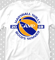 Basketball Camp Shirt Designs - Summer Hoops - cool-672s1