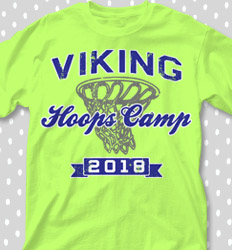 Basketball Camp Shirt Designs - Hoops Camp Classic - cool-656h1