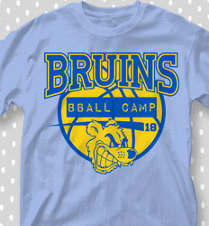 Basketball Camp Shirt Designs - Mascot Bball Camp - cool-668m1