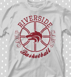 Basketball Camp Shirt Designs - Basketball Mascot Logo - cool-630b1