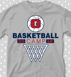 Basketball Camp Shirt Designs - Hoop Camp Classic - cool-633h1