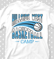Basketball Camp Shirt Designs - Swoosh Basketball - cool-679s1