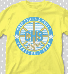 Basketball Camp shirt designs - Camp Hoop Logo - cool-632c1