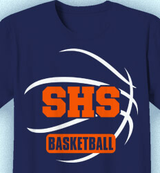Basketball T Shirt Design - Collegiate Ball - idea-143c2