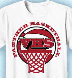 Basketball T Shirt Design - Vintage Hoops Logo - cool-808v1