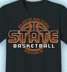 Basketball T Shirt Design - Super State - cool-815s1