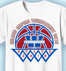 Basketball T Shirt Design - State Tourney Champs - cool-786s1