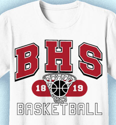Basketball T Shirt Design - School Basketball - cool-812s1