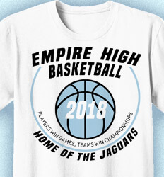 Basketball T Shirt Design - Hoops Central - cool-811h1