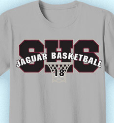 Basketball T Shirt Design - Basketball Arch - cool-806b1