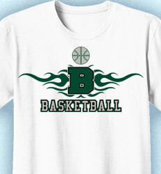 Basketball T Shirt Design - Collegiate Heater - desn-353i4