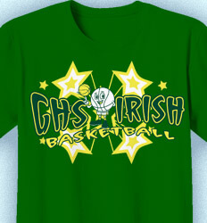 Basketball T Shirt Design - All Star Player - cool-794a1