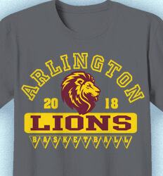 Basketball T Shirt Design - Aloha Athletics - clas-831e5