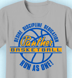 Basketball T Shirt Design - Desire Discipline Dedication  - idea-137d1
