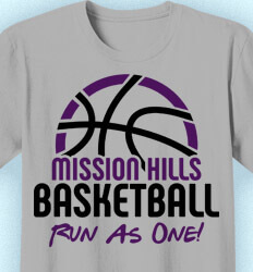 Basketball T Shirt Design - Bball Camp Horizon - cool-655b8