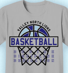 Basketball T Shirt Design - Net Bound - idea-139n1