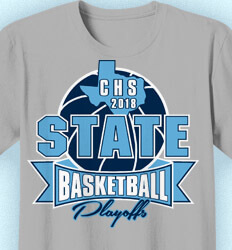 Basketball T Shirt Design - Huge State Basketball - cool-807h1