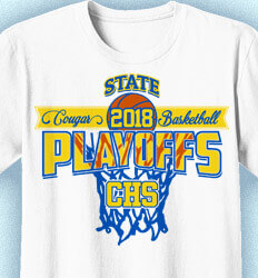Basketball T Shirt Design - State Playoffs Net - cool-805s1