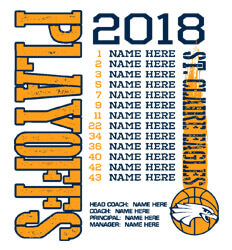 Basketball Roster Template - Playoff Roster - cool-792p1