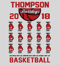 Basketball Roster Template - State Roster - desn-558s3