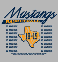 Basketball Roster Template - Big State Roster - cool-803b1