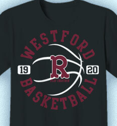 Basketball T Shirt Design - Athletic Emblem - idea-145a2