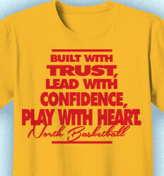Basketball T Shirt Design - Built With Trust Slogan - idea-138b1