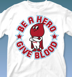 Blood Donor Shirt Designs - Give Blood Hero cool-559g1
