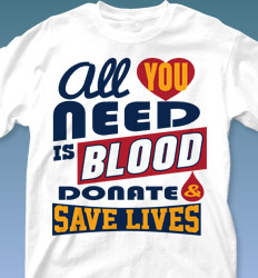 Blood Donor Shirt Designs - Life Slogans desn-634o3
