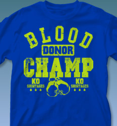 Blood Donor Shirt Designs - Blood Donor Champ cool-561b1