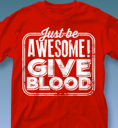 Blood Donor Shirt Designs - Give Blood Retro cool-562g2