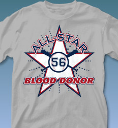 Blood Donor Shirt Designs - All Star Leader clas-580b2