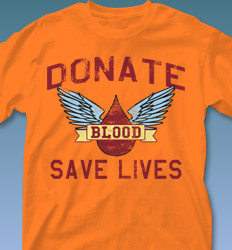 Blood Donor Shirt Designs - Mascot Phys Ed clas-829p8