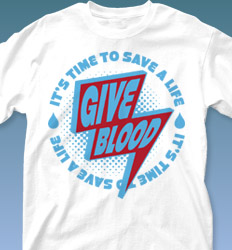 Blood Donor Shirt Designs - Give Blood Blast cool-552g1