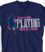 Breast Cancer T Shirt - Playing For A Cure desn-787p1