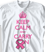 Breast Cancer T Shirt - Keep Calm desn-613m1