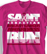 Breast Cancer T Shirt - Cancer Run desn-785c1