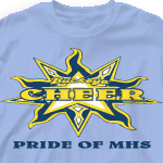 Custom Cheer T-Shirts - Tri-Star 105t9