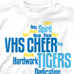 custom cheer t shirts random words 268r1