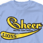 Custom Cheer Shirts - Retro Script 534s9