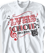 Choir-Chorus T-Shirts - Cool Choir Event T-Shirt Designs. FREE Shipping