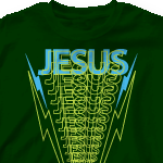 Church Design Shirts   Jesus Lightning 318j1