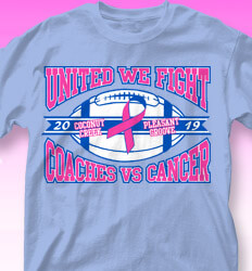 College vs Cancer Shirt Designs - Tackle Breast Cancer - desn-802t2
