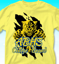 College Bound Shirt Designs - College Bound Mascot - logo-383c1