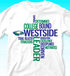 College Bound Shirt Designs - Random Words - desn-268m6