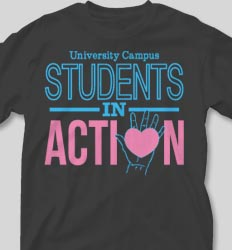 College T Shirts - Students In Action cool-75s1